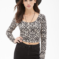 FOREVER 21 Baroque Print Crop Top