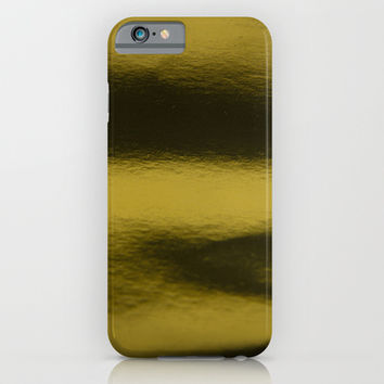 Golden metal iPhone & iPod Case by VanessaGF   Society6