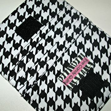 Black and White Houndstooth Wallet for Women, Wallets with Pockets, Cute Wallets