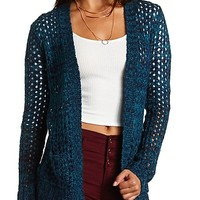 Marled Open Knit Cardigan Sweater by Charlotte Russe