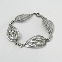 On Sale NoW! Was $75 Vintage Coro Sterling Bracelet Craft by Coro Sterling Leaf Bracelet Leaves Bracelet