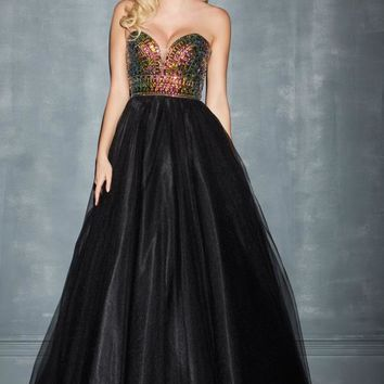 Night Moves Tulle Skirt Prom Dress 7003