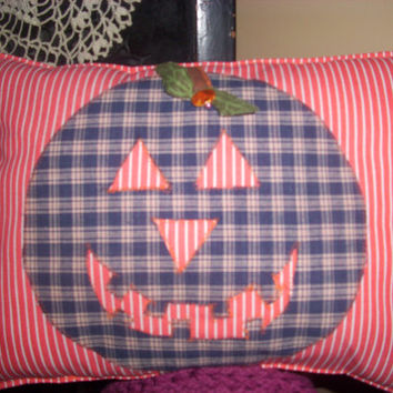 HALLOWEEN PUMPKIN PILLOW,  Autumn Themed, Fall Trending, Fall Decor