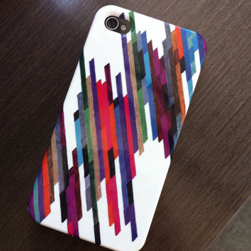 "iPhone 4 Case - ""Crazy Lines B"" Graph Drawing - custom iPhone case, art iPhone case, original art, iphone 4/4S case"