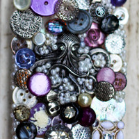 Purple and Silver Steampunk Junk iPhone 4/4s Case