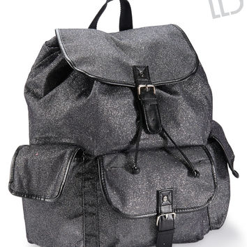 Aeropostale LLD Glitter Backpack - Black, One