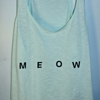 Mint &#x27;Meow&#x27; Tank