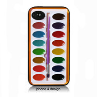 Watercolor iphone 4, iphone 4 case, cell phone accessory case, 4s