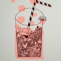 fizzy pop screenprint