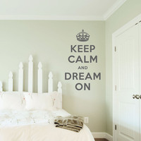 Keep Calm and Dream On Decal - 14&quot; x 24&quot; - Vinyl Wall Art Decal Sticker