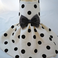 PAPYRUS DOTS - Taffeta Dress for Small Dogs - Custom Made