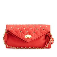 Fold-Over Quilted Evening Bag: Charlotte Russe
