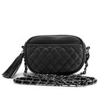 Quilted Leatherette Cross-Body Bag: Charlotte Russe