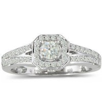 Beautiful 1/2ct Diamond Engagement Ring in 14K White Gold
