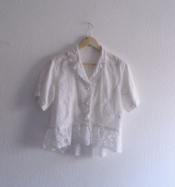 Rustic Embroidered Linen Shirt Ethical From Khegreen On Etsy