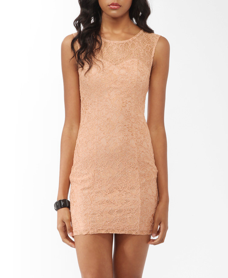 Textured Lace Sheath Dress