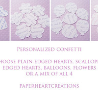 100 X Personalised Confetti Hearts .. on Luulla