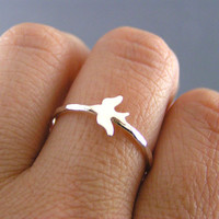 Sterling Silver Sparrow Personalized Stack Ring