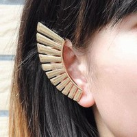 Fan Shaped Wrapping Ear Cuff Earrings | LilyFair Jewelry