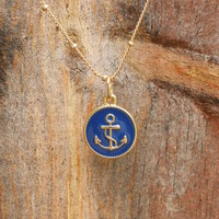 Nautical Navy Anchor [2949] - $12.00 : Vintage Inspired Clothing &amp; Affordable Summer Dresses, deloom | Modern. Vintage. Crafted.