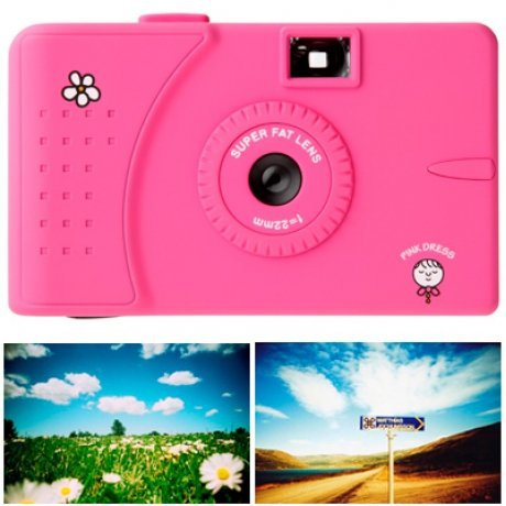 Poketo Pink Slim Angel Wide-Angle Camera