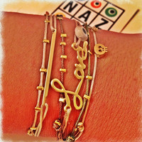 Naz OsOChic Trendy Friendship Neutral Color Bracelets