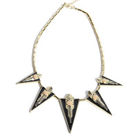 Pyramid Pointed Choker