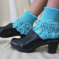 SLC2-Signature Lace Sock-lagoon