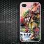 iphone 4 case iphone 4s case iphone 4 cover painting house  image design printing