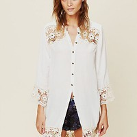 Free People Crochet Night Shirt