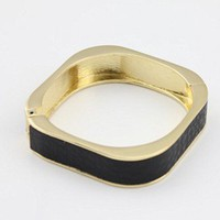 Golden Square Bangle