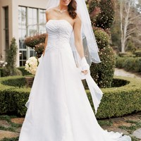 Buy Chiffon A-line Gown with Side Draped Bodice Style V9409  for $138.53 only in Fashionwithme.com.