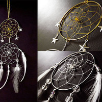 Dreamcatcher, Game of thrones inspired, Sun and moon crystal bohemian dreamcatcher