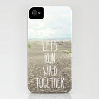 lets run wild together iPhone Case by Sylvia Cook Photography | Society6