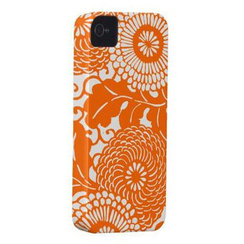 Vintage Abstract Floral Pattern Iphone 4 Case-mate Cases from Zazzle.com