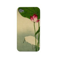 Vintage Japanese Ukiyo e Woodcut ~ Bird and Flower Iphone 4 Covers from Zazzle.com