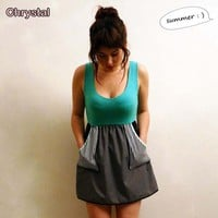 Turquoise pocket dress