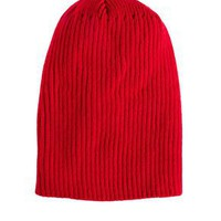 ASOS Rib Boyfriend Knit Beanie at asos.com