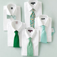 Emerald and Aqua Neckwear - Perfect Wedding Color Palette: Emerald and Aqua - Plan Your Wedding by Color - MarthaStewartWeddings.com