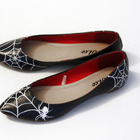 Spiderweb Ballet Flat Shoes