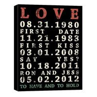 To have and To Hold  Numbers Wall Art  words Vintage style art modern typography 12x16  canvas wrap art