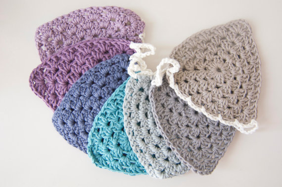 Crochet Hair Garland : Crochet Bunting / Crochet Garland / from LaPapaya on Etsy