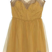 RODARTE FOR TARGET NUDE LACE TULLE BOW SLIP DRESS XS on eBay!