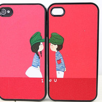 Lovers Couples Hard Case Cover for Apple iPhone 4gs Case, iPhone 4s Case, iPhone 4 Hard Case
