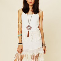 Free People Fringe Dream Mini Dress