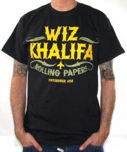 ROCKWORLDEAST - Wiz Khalifa, T-Shirt, Rolling Papers