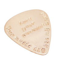 Hand Stamped Guitar Pick - Personalized Guitar Pick - Copper - Sterling Silver - Brass - Au Natural
