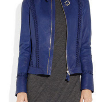 Roberto Cavalli | Leather biker jacket | NET-A-PORTER.COM