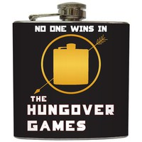 "Liquid Courage Flasks: ""The Hungover Games"" - Vodka Vendettas Tribute Flask"
