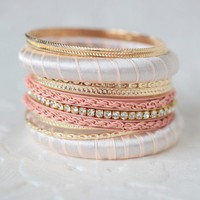 pink parfait bangle set at ShopRuche.com